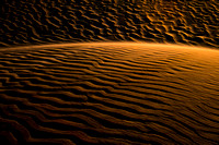 Light sculpture in the sand dunes