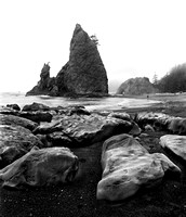 Rialto Beach, Olympic Peninsula, rocks and sea stacks